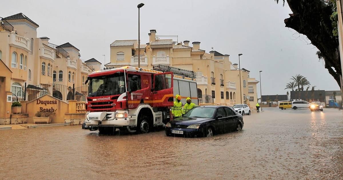 Торревьеху затопило в результате проливных дождей
