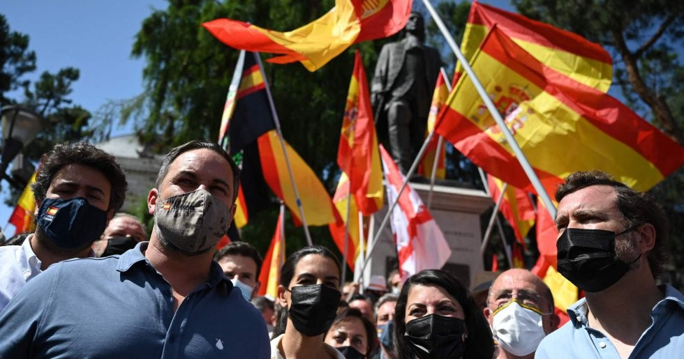 В воскресенье в Мадриде прошла демонстрация против помилования лидеров за независимость Каталонии